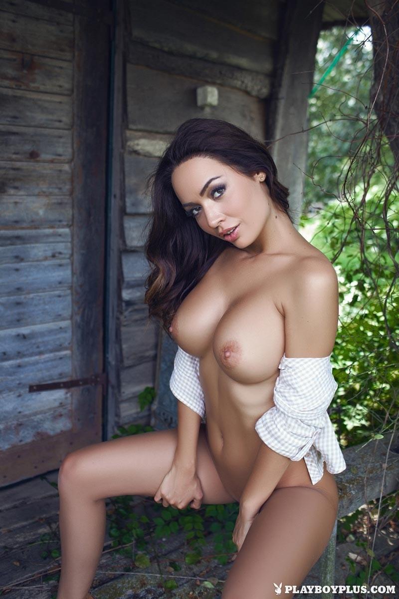 Big tits blonde strip