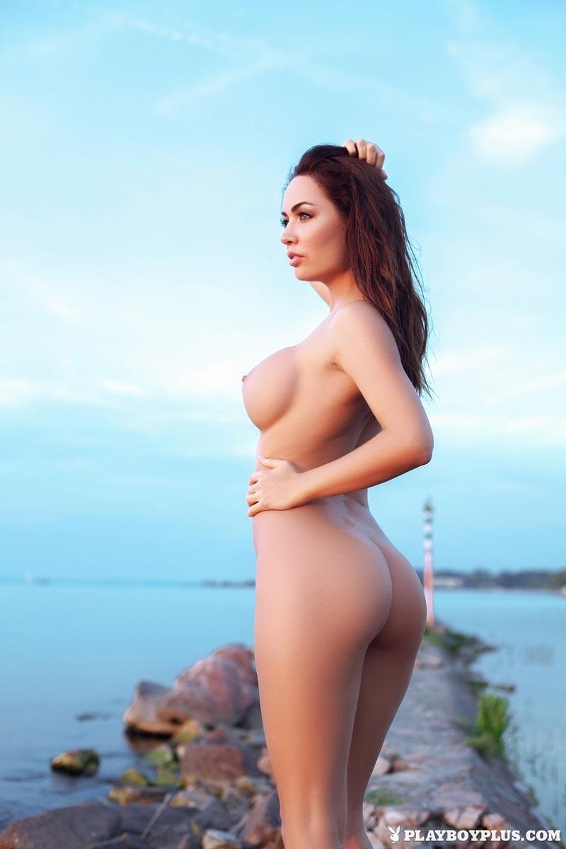 Adrienn Levai Skimpy Red Thong