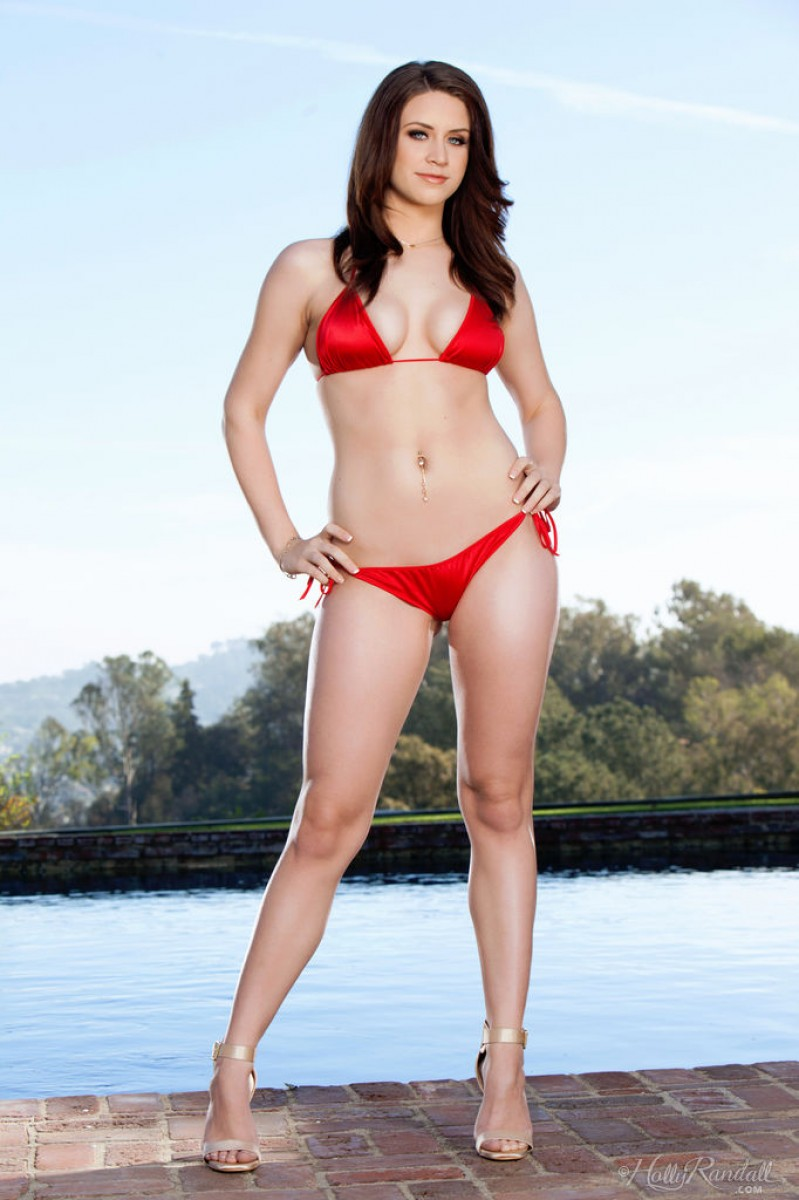 February Th In Bikini Brunette Model Delilah Blue Holly