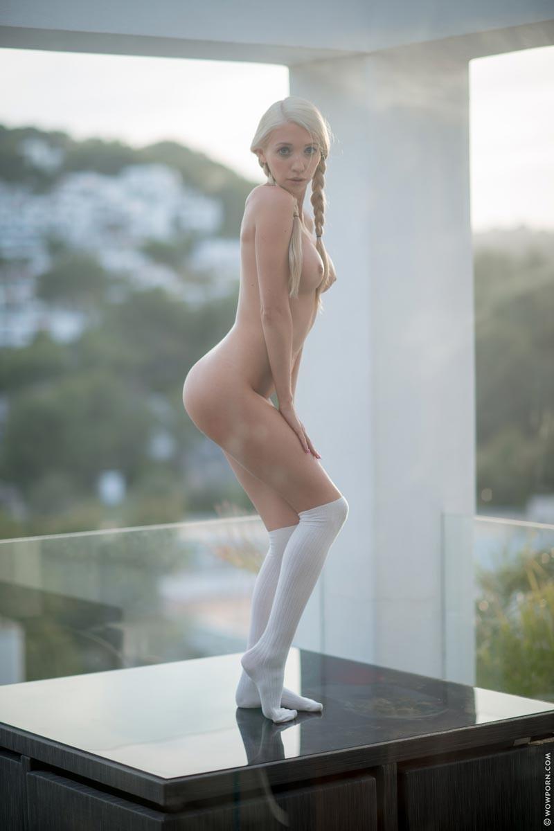 Miriama Kunkelova Naked In White Socks-9971