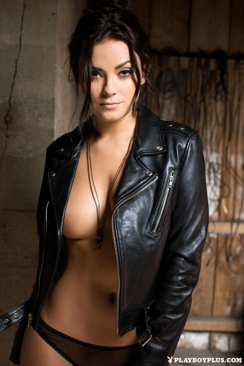 Alexandra Tyler In A Sexy Leather Jacket-9991