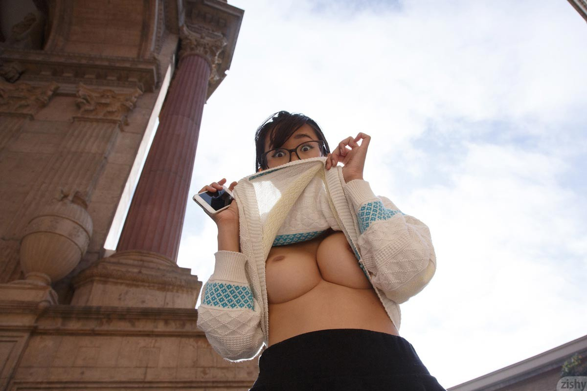 Busty Nerdy Asian Coed With Hot Tits