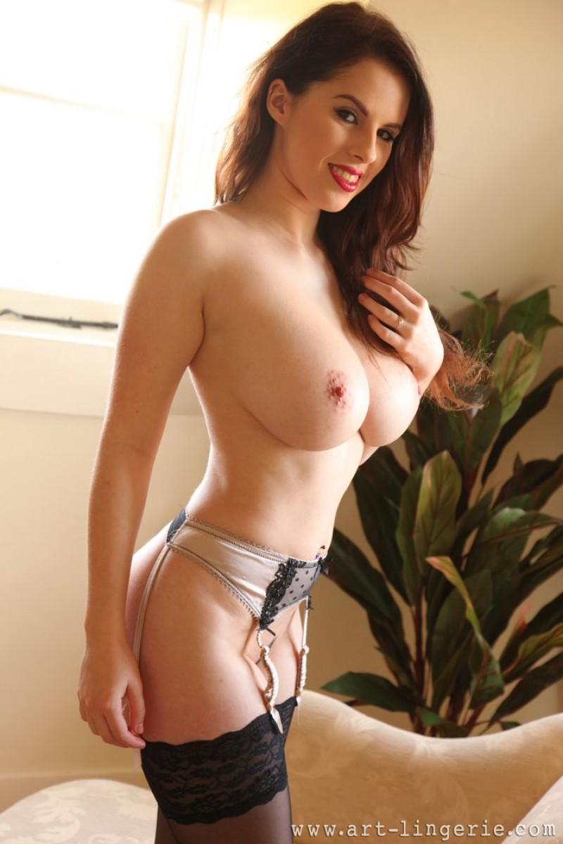 Hot girl big tits pajamas
