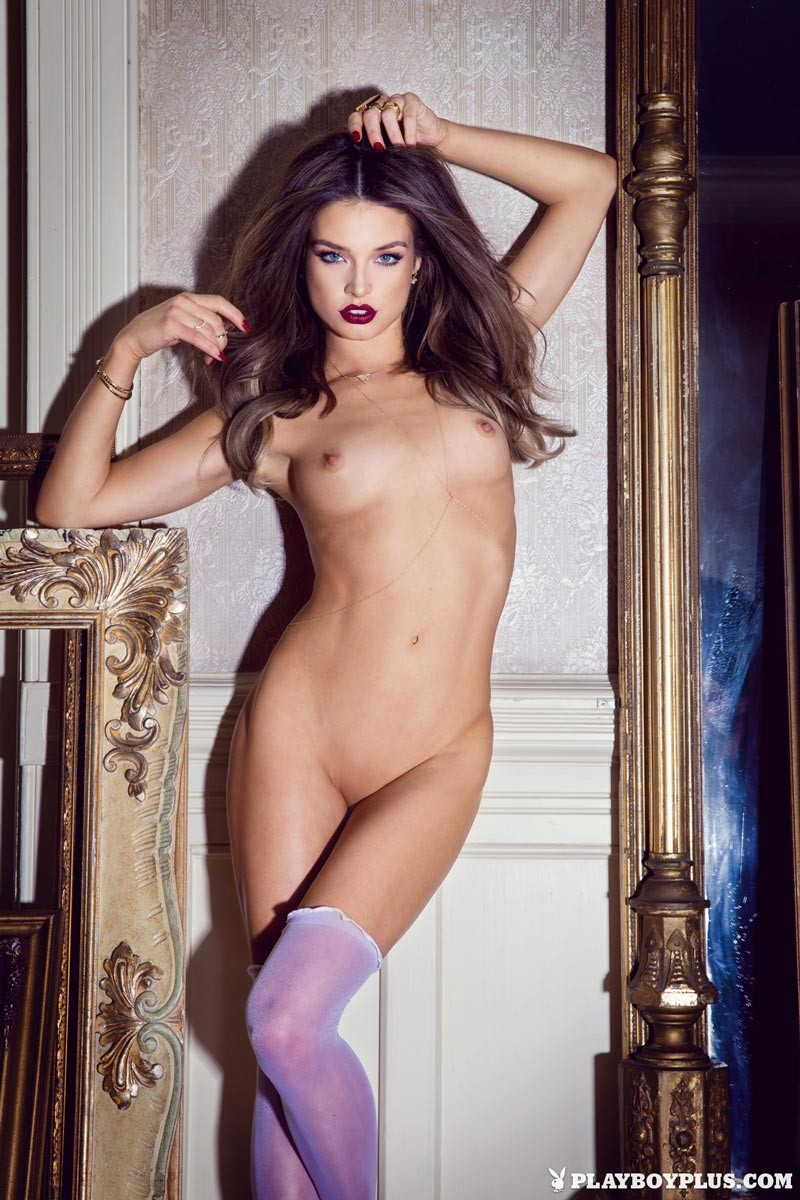 Brittany Brousseau In Purple Stockings-9113