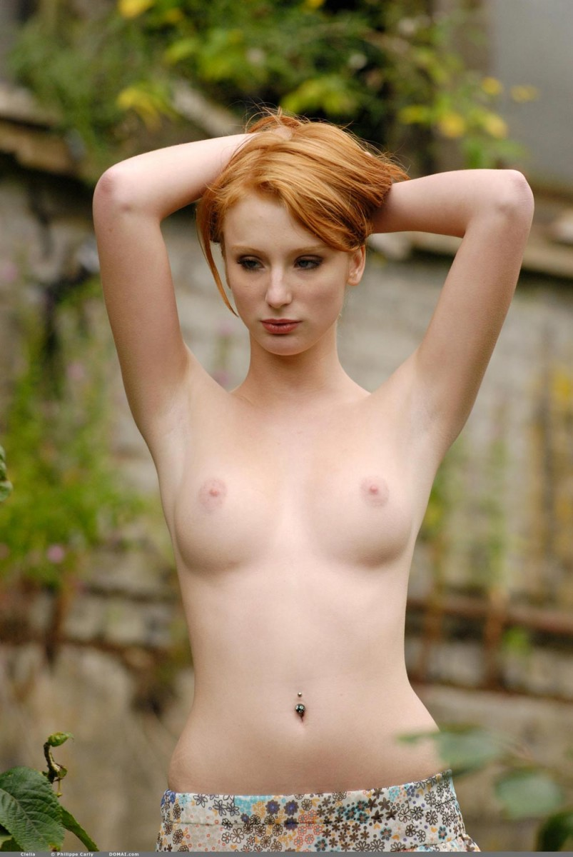 Apologise, redhead perky breasts something