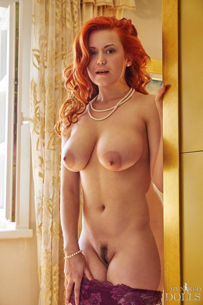 Busty ginger strips and masturbating 10