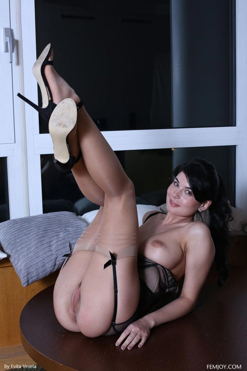 image Hairy milf seduces a younger man