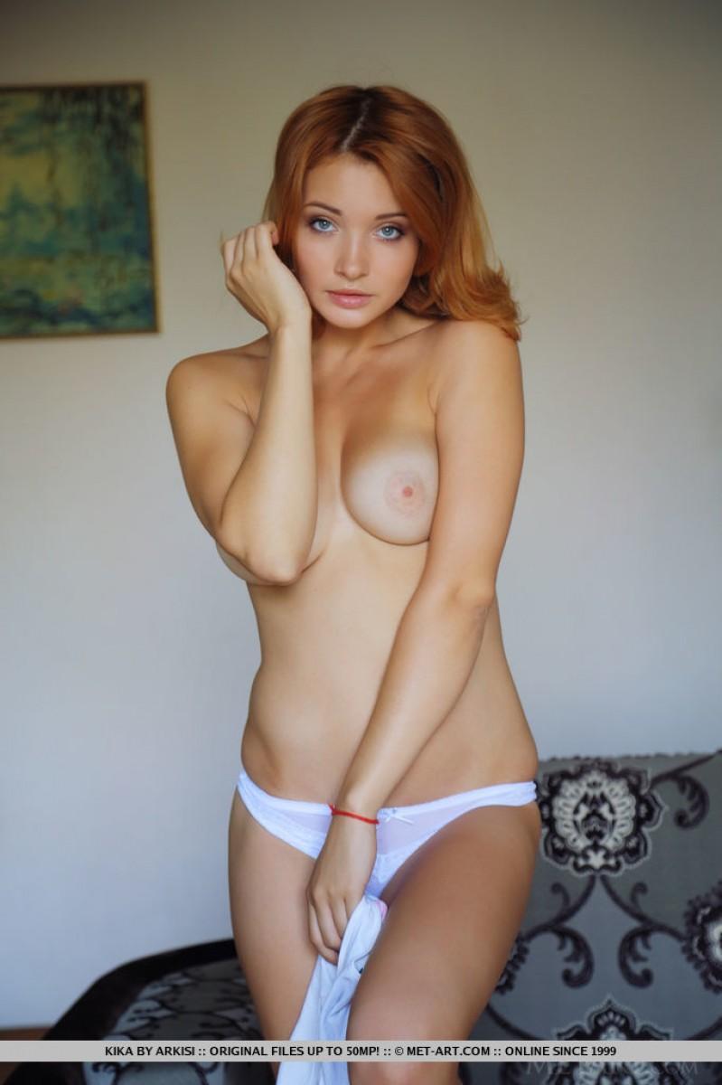 One nude redhead tean