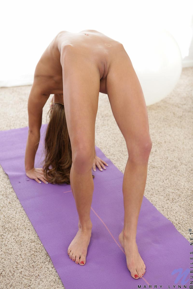 Marry Lynn Strips After her Yoga Workout