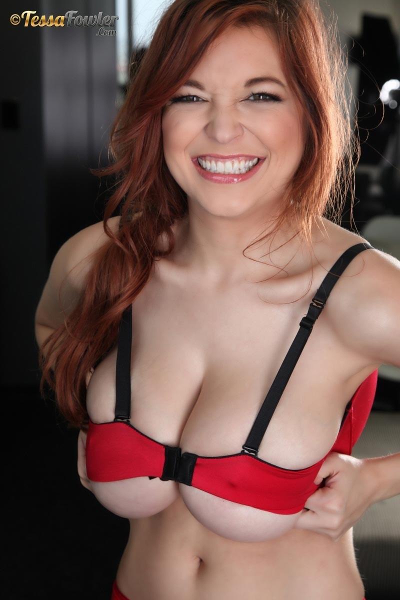 Tessa Fowler In Red Lingerie-7566