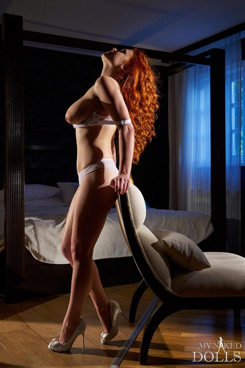 Super Curvy Redhead With Curly Hair