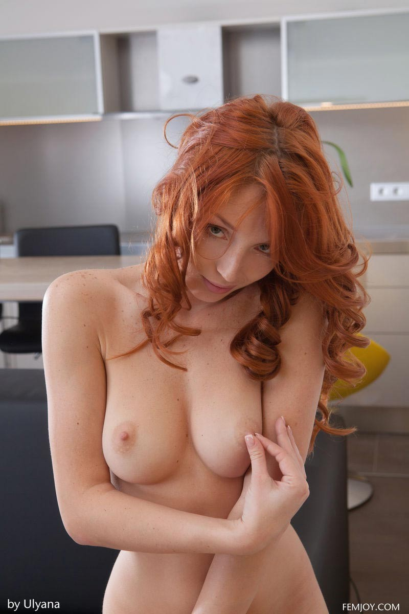 Dreamy Redhead Red Fox Shows Perky Breasts-9441