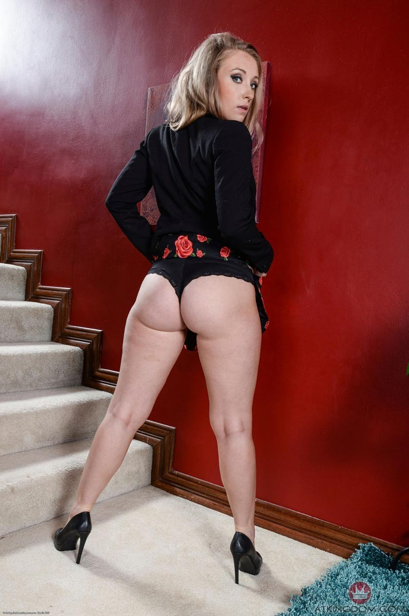Naked girl sucking cock