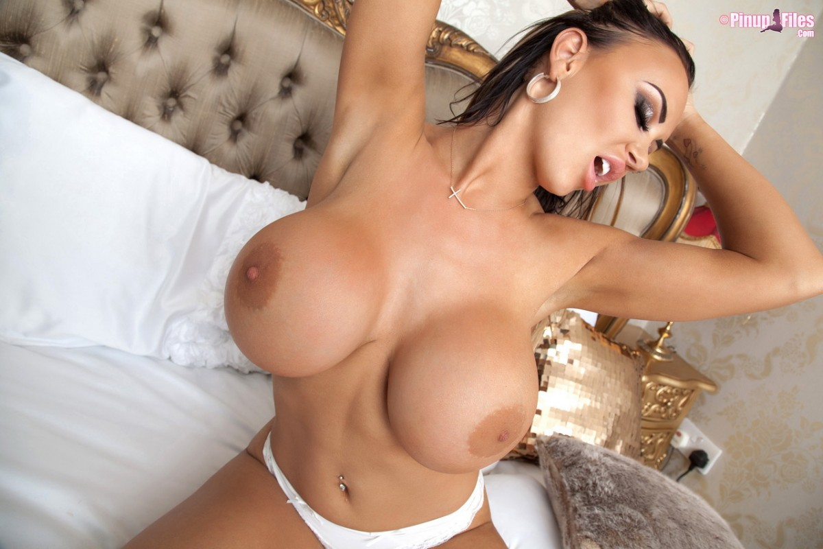 Danniella Levy Plays With Her Huge Round Boobs-3392