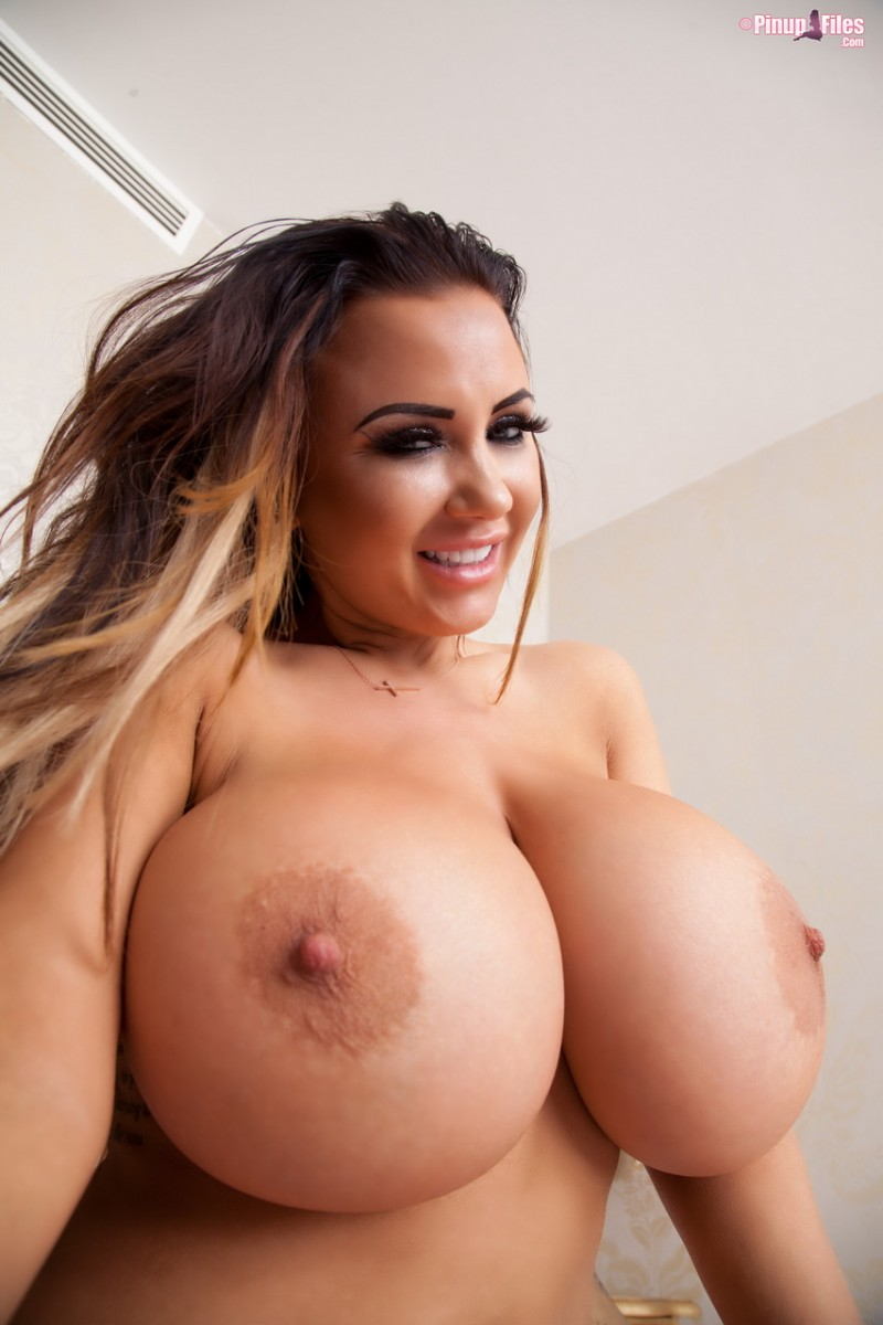 Danniella Levy Plays With Her Huge Round Boobs-4702