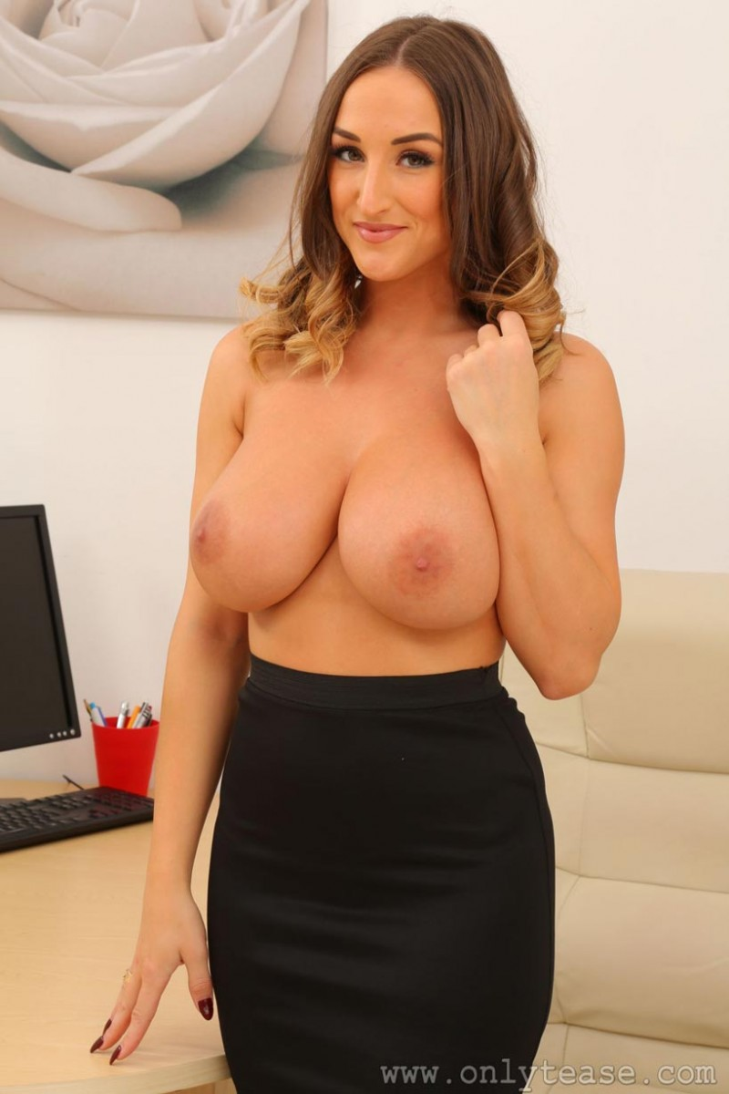 Stacey Poole Strips At Her Desk-6245