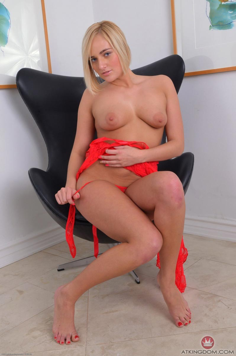 Kate England in Red Lingerie