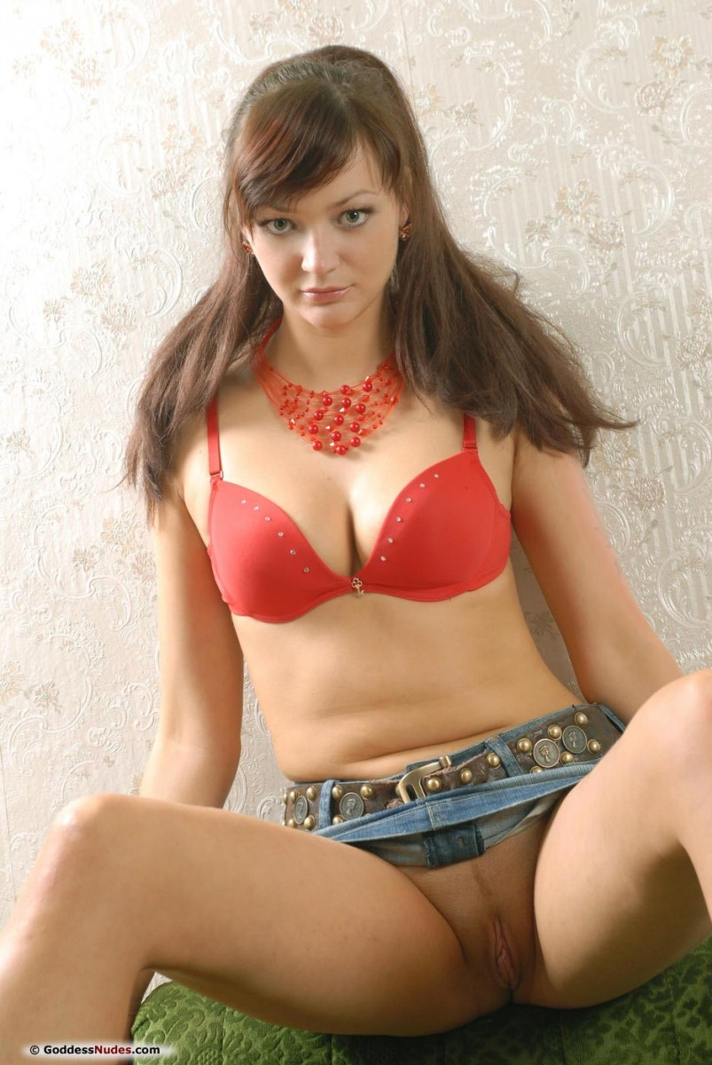 Sexy Euro Babe In A Jean Nederdel-7384
