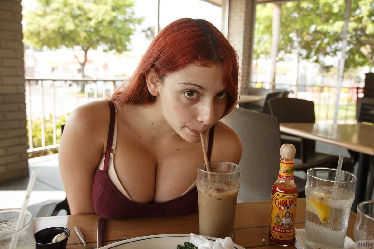 Gina Rosini Busty Curvy Amateur Redhead