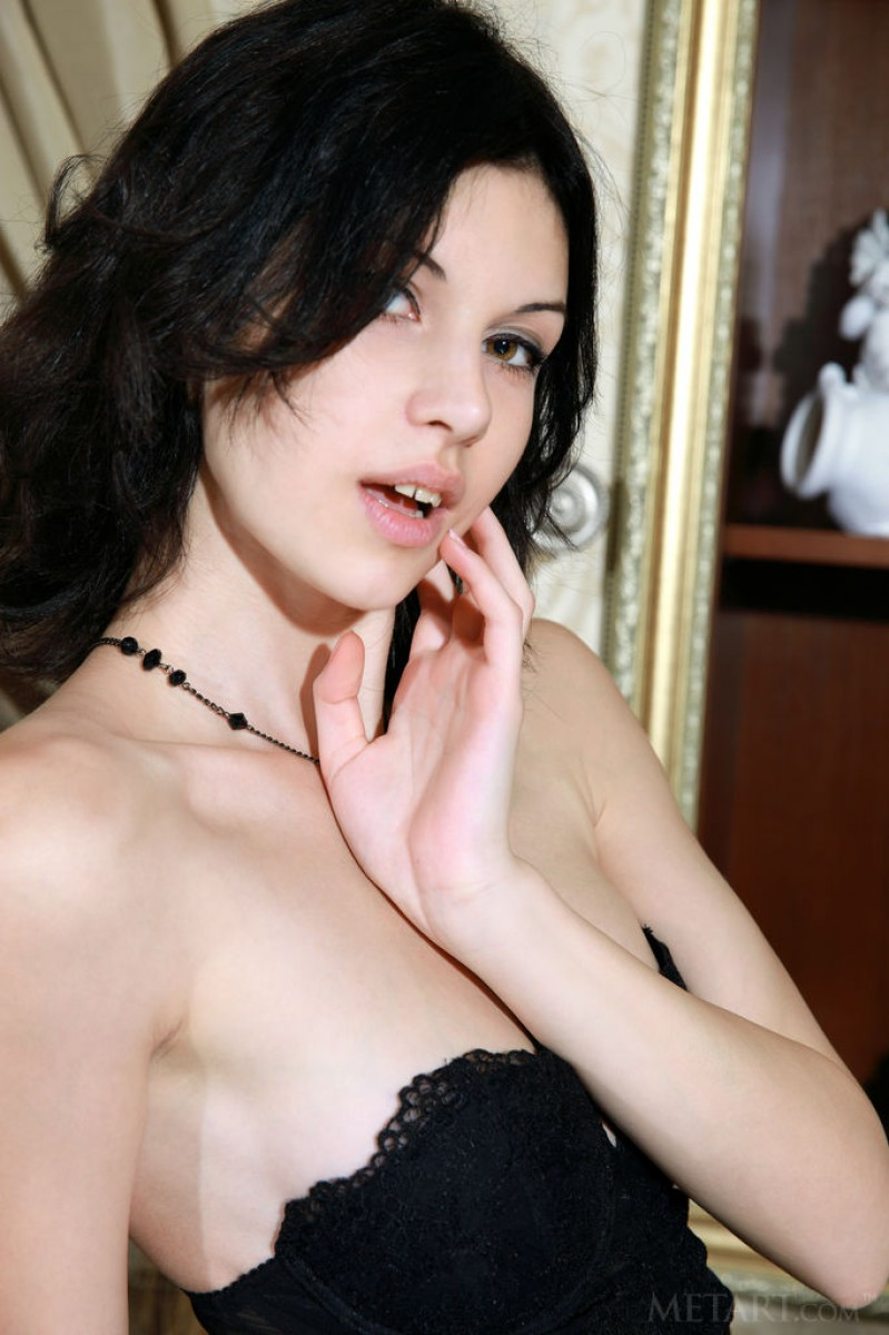 Hot Brunette With Smooth Porcelain Skin-1279