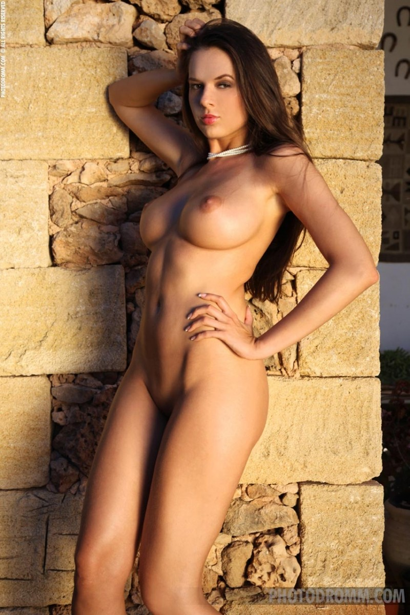 Are Statuesque naked brunette happens