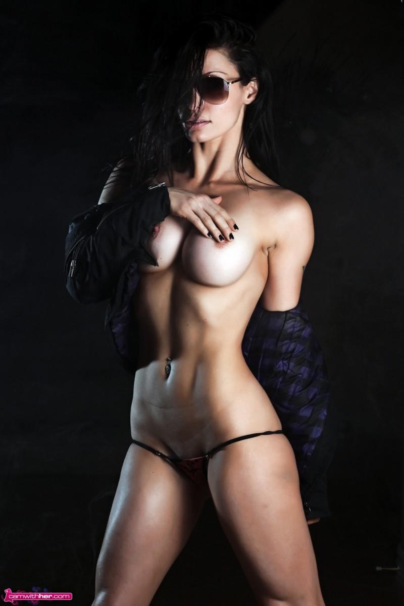 busty athletic nude latina
