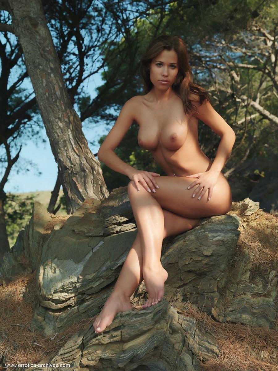 Satin bloom nude model