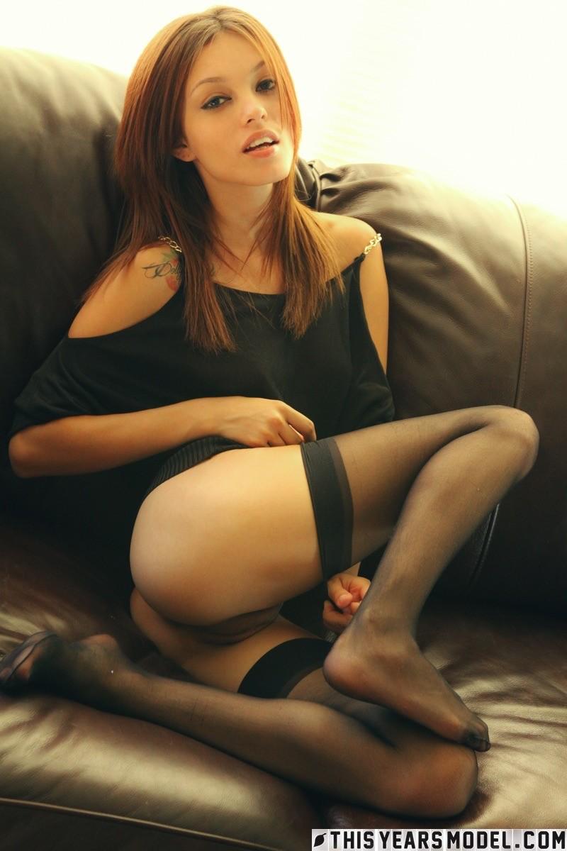 Ashley doll in white stockings masturbating 5