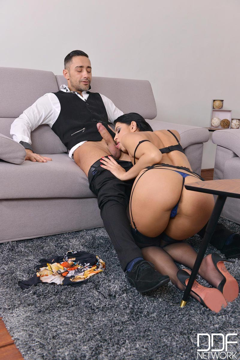 Busty asian hottie rides hard cock during the slippery massa - 2 1
