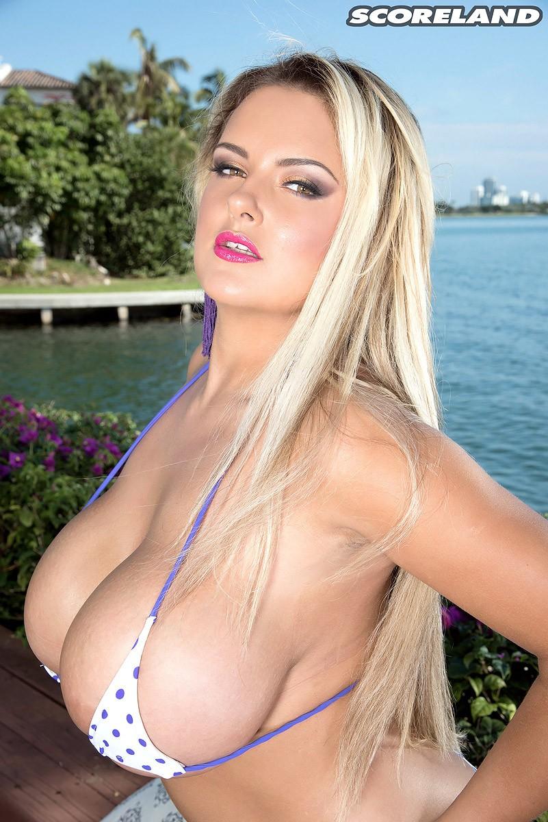 Big tits in a bikini