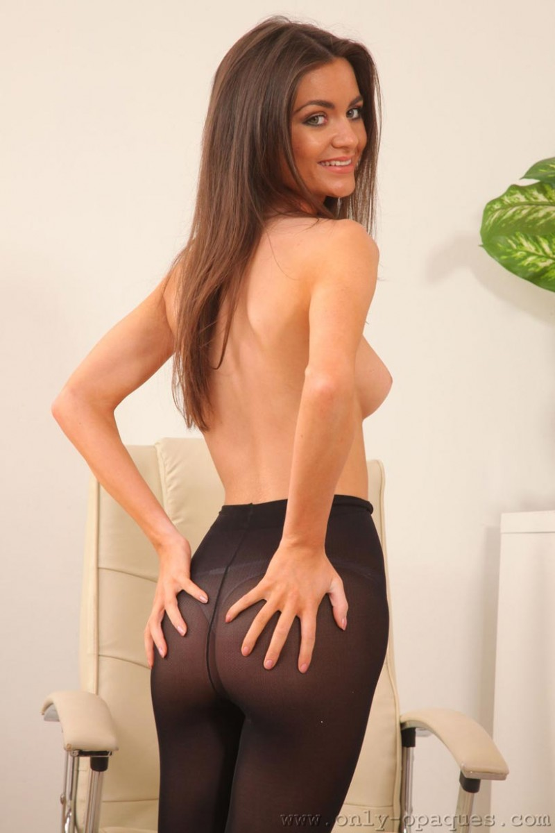 Tianna Topless In Black Pantyhose-5912