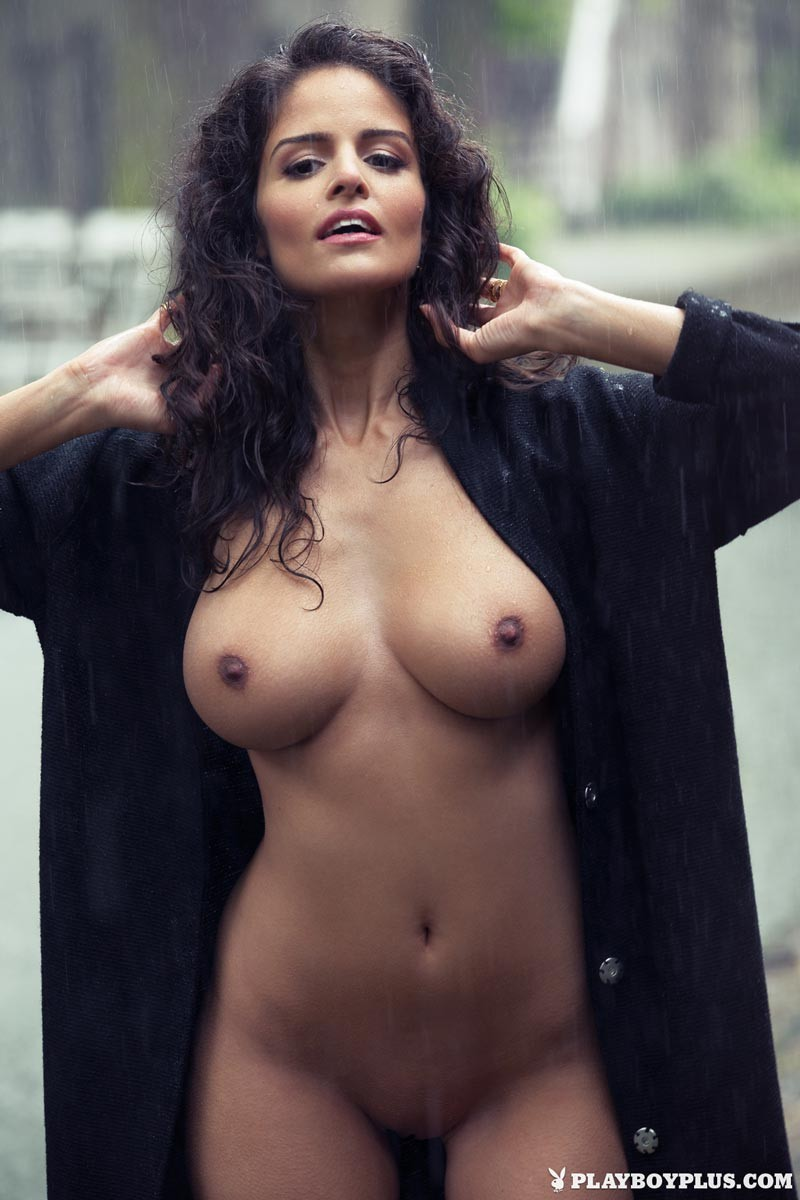 Brunette busty centerfold mine