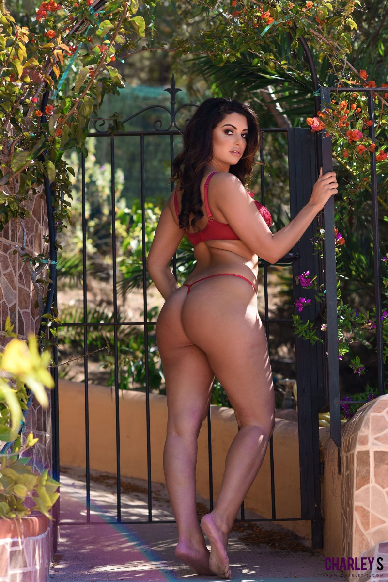 Charlotte Springer In A Red Bikini-4416