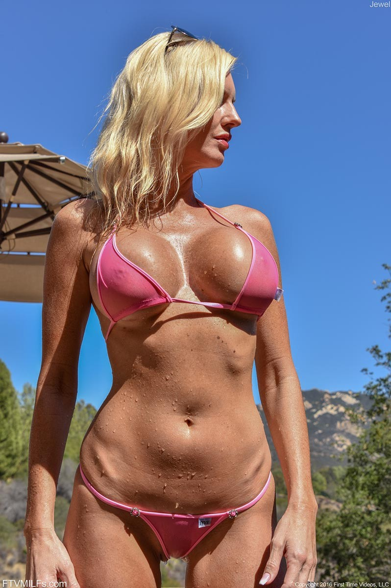 Agree, the Sexy blonde pink bikini slut many