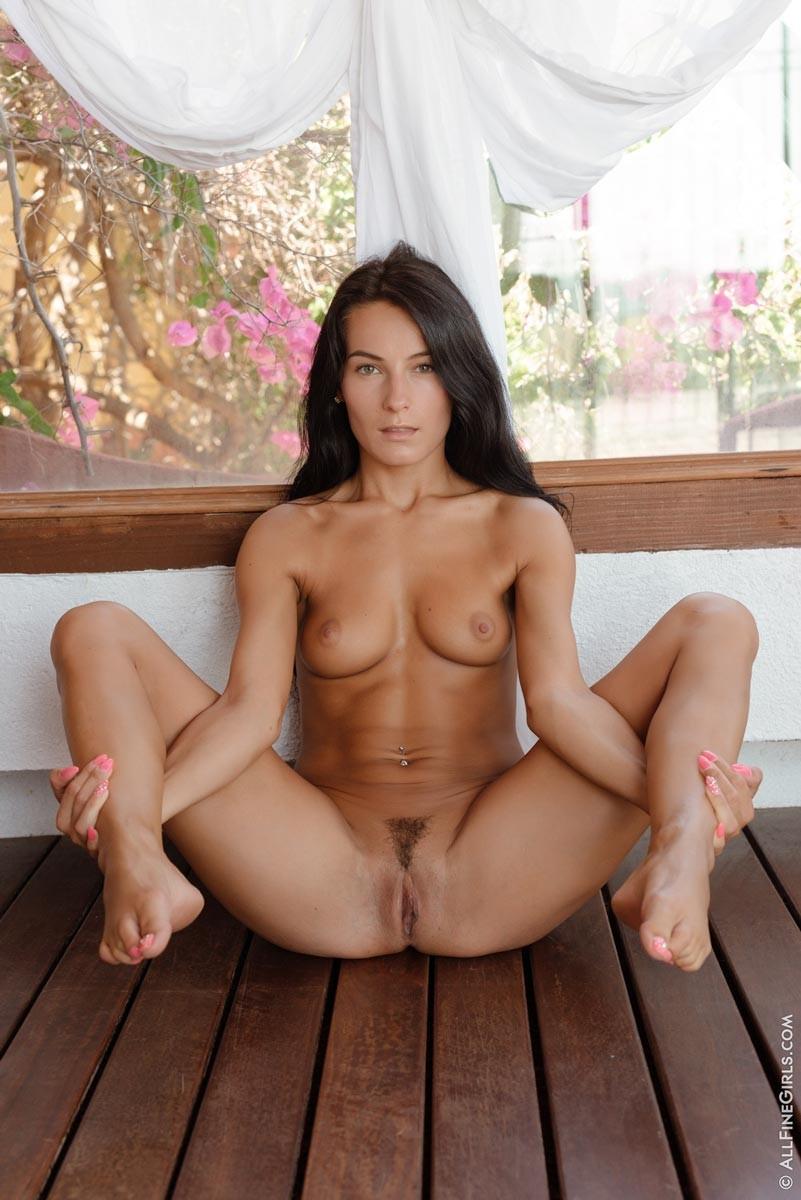 Nude latina woman breastfeed