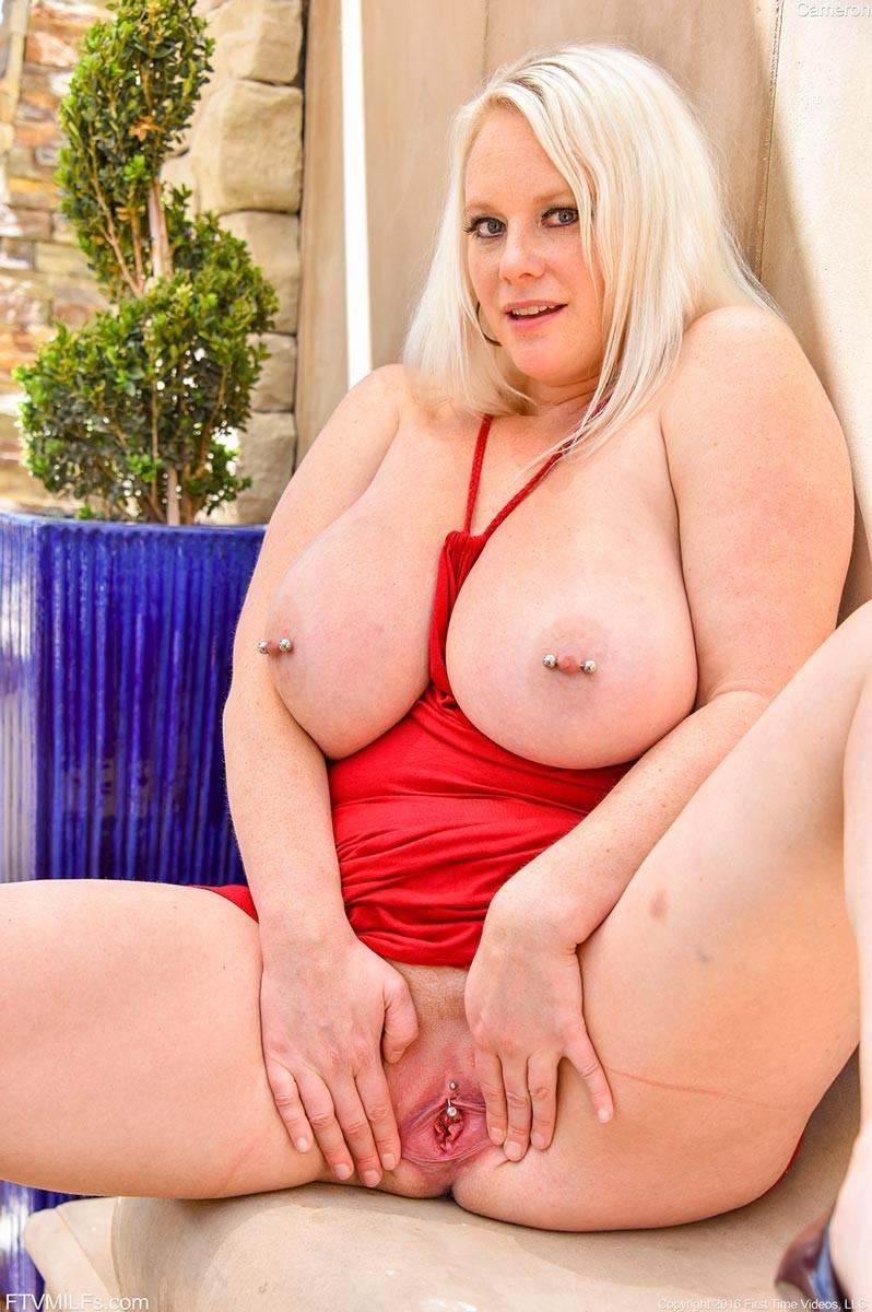 Blonde Milf With Big Pierced Boobs-4730