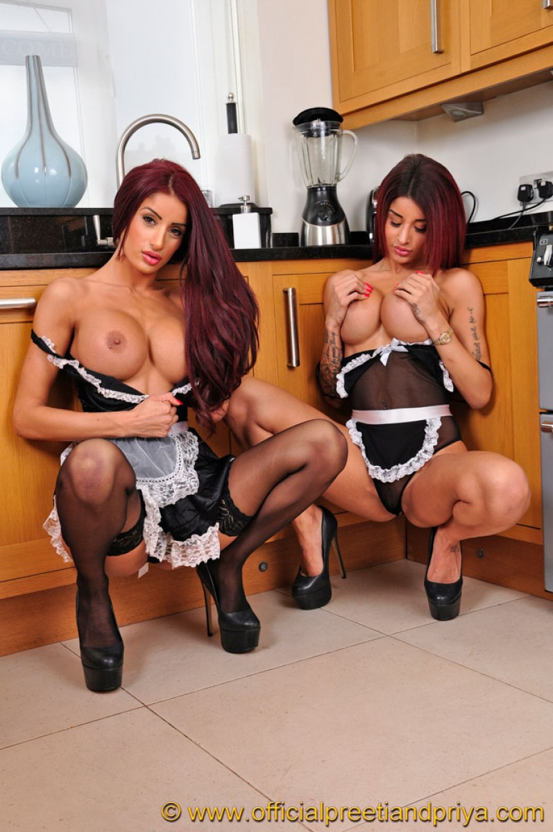 Indian Twins In Maid Lingerie-5701
