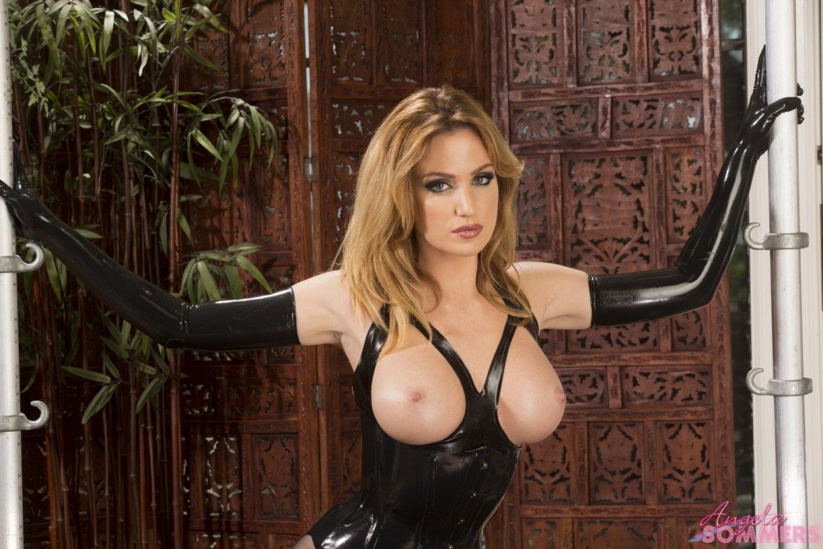 Angela Sommers Busty Latex Goddess