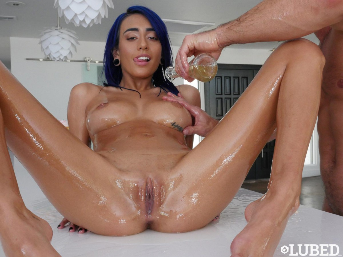 Janice griffith gets oiled and fucked hard