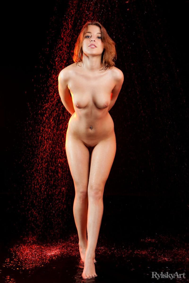 Wet redhead