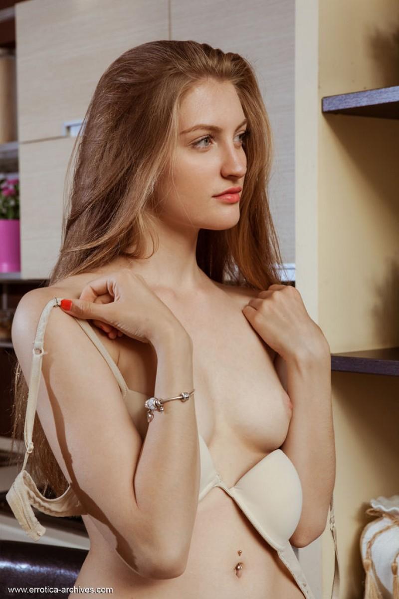 Lovely Blonde Bretona Stripping Naked-1563