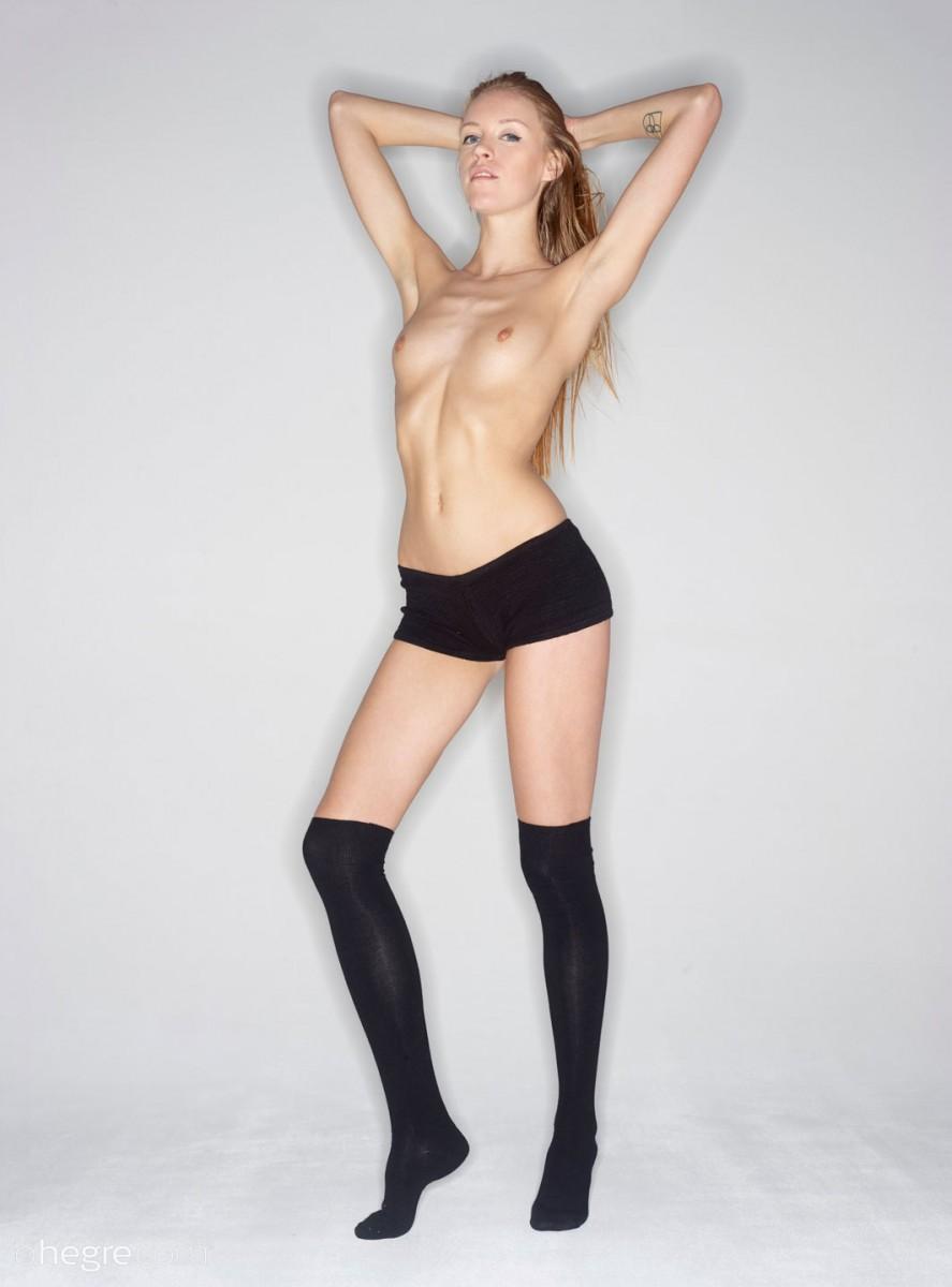 High Socks Naked 51