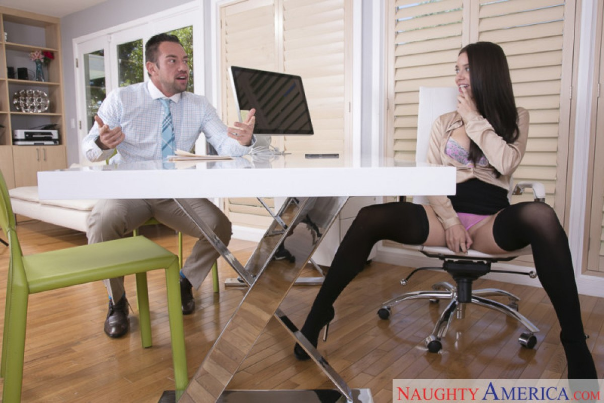 Big tits secretary fucked by the company directors - 3 1