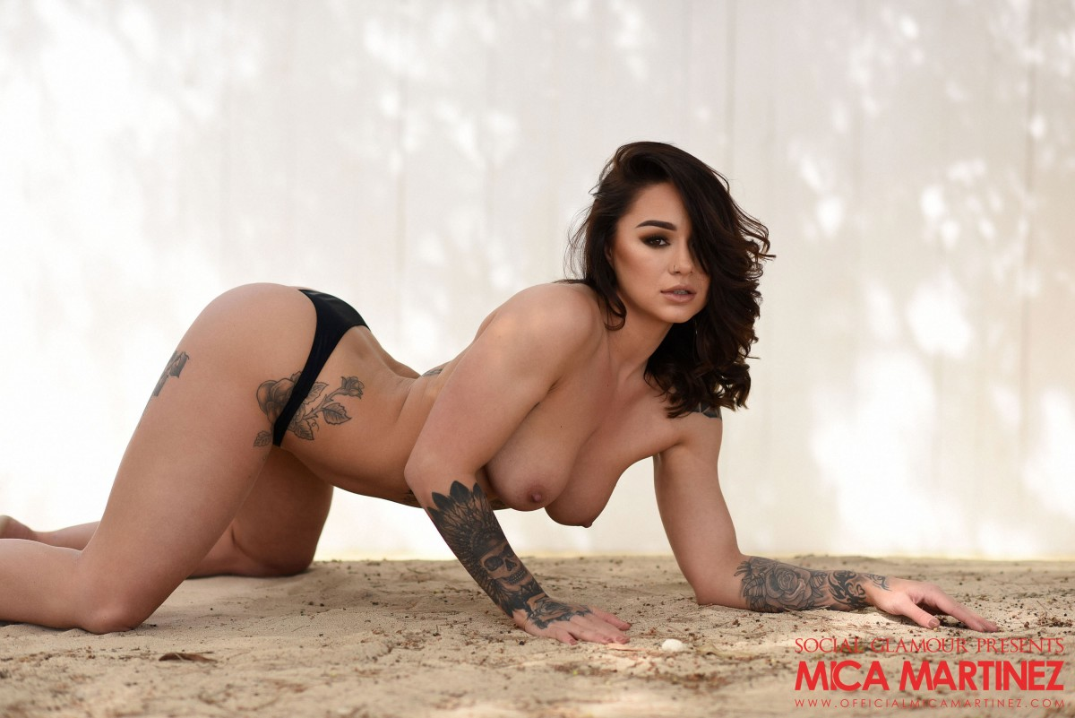 Mica Martinez Teasing in the Sand