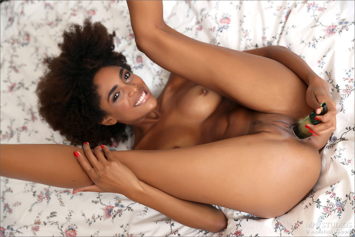 Ebony babe pink gets her asshole filled 8