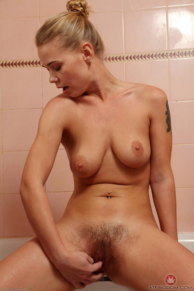 young girls nude in shower with hairy pussy