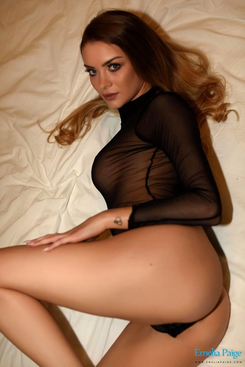 Emelia Paige In a Sheer Bodysuit