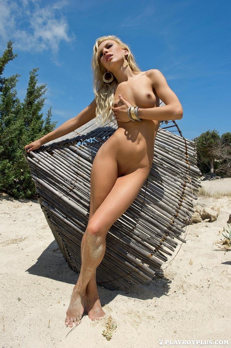 Katia Dede Nude Beach Blonde