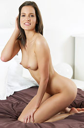 silvie-luca-shows-shaved-pussy