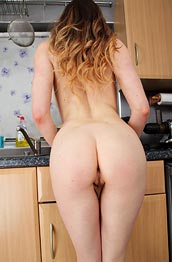 samantha-bently-strips-in-the-kitchen